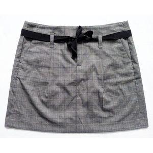 "NEW Ribbon Tie Plaid Skirt + Pockets 32"" x 16.5"